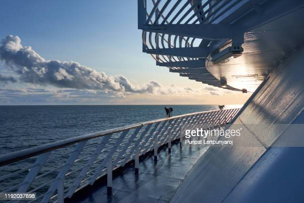 the scenery of baltic sea from the deck of ferry, sweden - 遠洋定期船 ストックフォトと画像