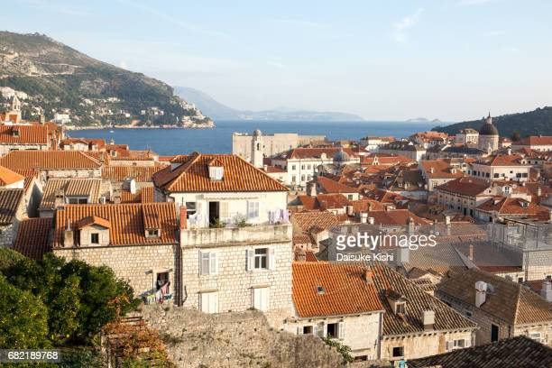the scenery of dubrovnik, croatia - 屋根 stock pictures, royalty-free photos & images