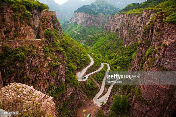 the scenery of guoliang village of taihang mountain,henan province,china - henan province stock pictures, royalty-free photos & images