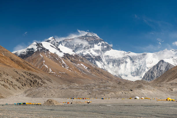 The Scenery of Mountain Everest, North Face side, view from Everest Base Camp, Tibet, China