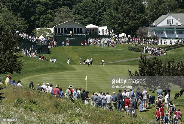 The scenic first hole during the third round of the Travelers Championship held at TPC River Highlands in Cromwell Connecticut on June 23 2007
