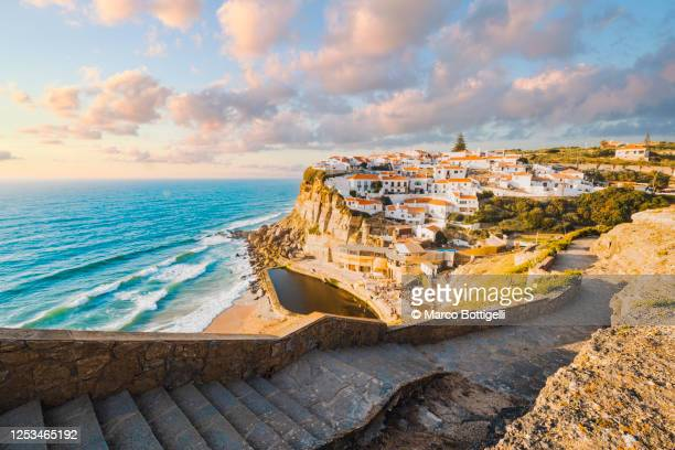 the scenic village of azenhas do mar, portugal - traditionally portuguese stock pictures, royalty-free photos & images