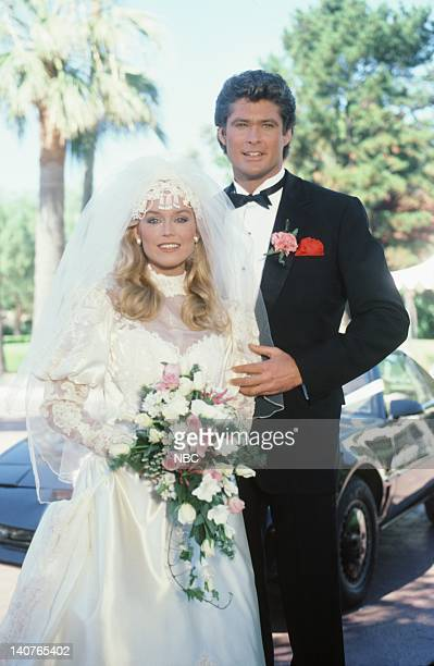 RIDER The Scent of Roses Episode 12 Pictured Catherine Hickland as Stevie Mason David Hasselhoff as Michael Knight Photo by Paul Drinkwater/NBC/NBCU...