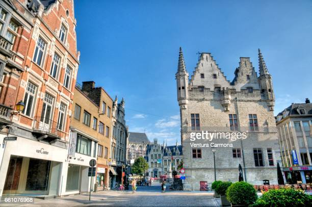 the schepenhuis in mechelen, belgium - städtische straße stock pictures, royalty-free photos & images