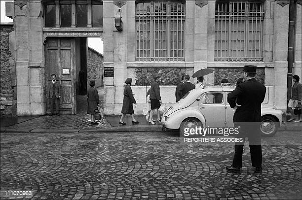 The school entrance in Paris France on September 16 1967
