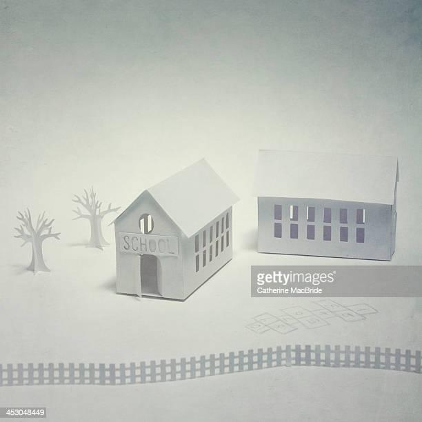 the school house - catherine macbride stock-fotos und bilder
