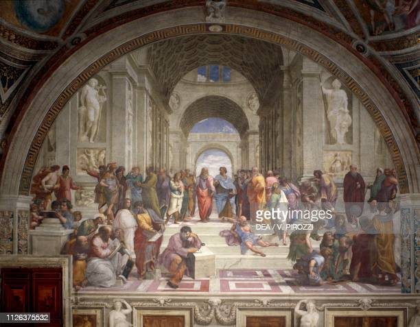 The School of Athens 15081511 by Raphael fresco Room of the Segnatura Apostolic Palace Vatican City