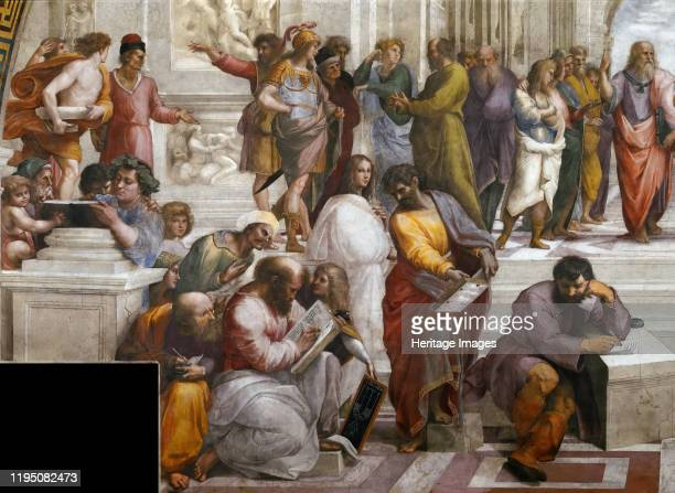 The School of Athens Detail ca 15101511 Private Collection Artist Raphael