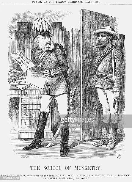 'The School of Musketry' 1881 A representative of the Boers asks the British Commander in Chief if he wishes to engage him to teach the British...