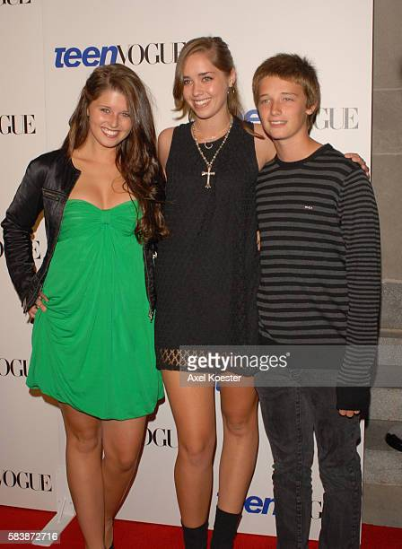 The Schwarzenegger children Katherine Eunice Christina Maria Aurelia and Patrick Arnold arrive at the Teen Vogue Young Hollywood Party at Vibiana in...