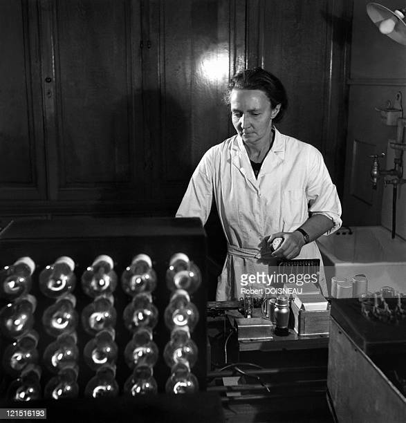 The Scientist At Her Laboratory Of The Institut Du Radium In Paris Chemistry Nobel Prize In 1935 For Her Discovering Of Artificial Radioactivity