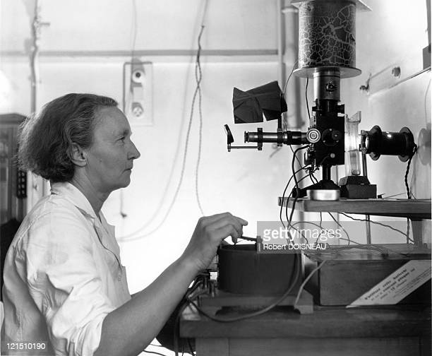 The Scientist In Her Laboratory Of The Institut Du Radium In Paris Nobel Prize Of Chemistry In 1935 For Discovering Artificial Radioactivity