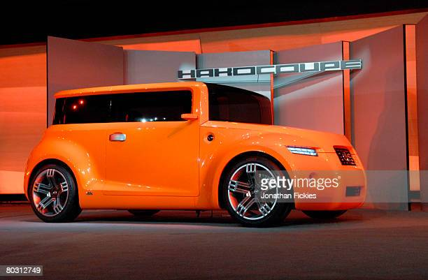 The Scion Hako Coupe Concept vehicle is unveiled at the New York International Auto Show March 19 2008 in New York City The show opens to the public...