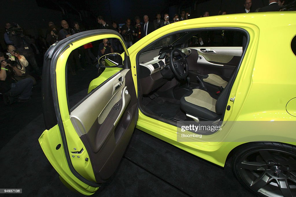 The Scion Iq Concept Vehicle Interior Is Shown As It Sits On