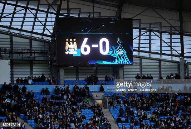 The score board tells the story at the end of the game