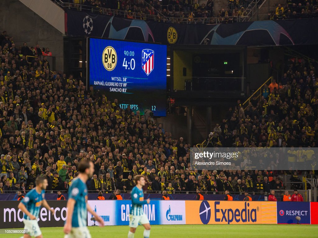 Borussia Dortmund v Club Atletico de Madrid - UEFA Champions League Group A : News Photo