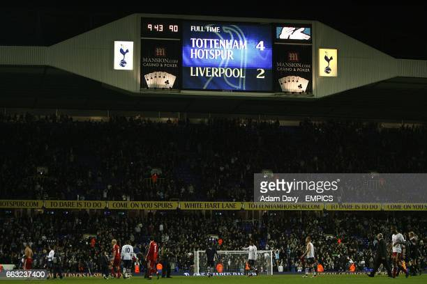 The scoreboard displays the final score at full time