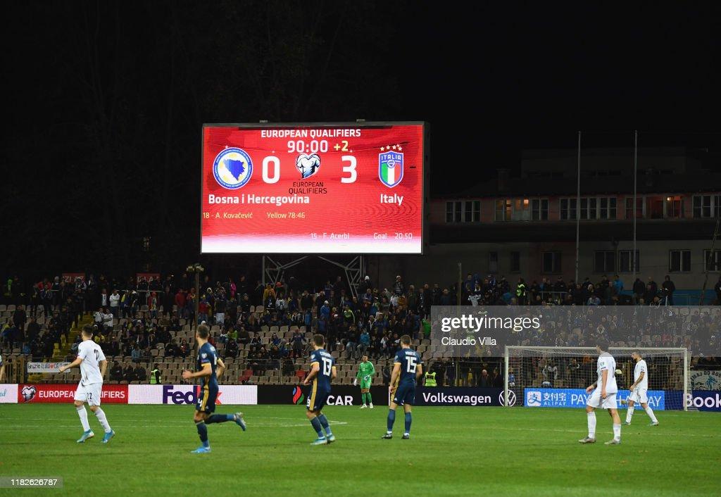 Bosnia and Herzegovina v Italy - UEFA Euro 2020 Qualifier : News Photo