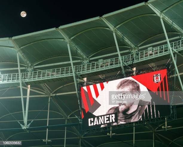 The scoreboard is seen prior the UEFA Europa League Group I match between Besiktas and KRC Genk at Vodafone Park on October 25 2018 in Istanbul Turkey