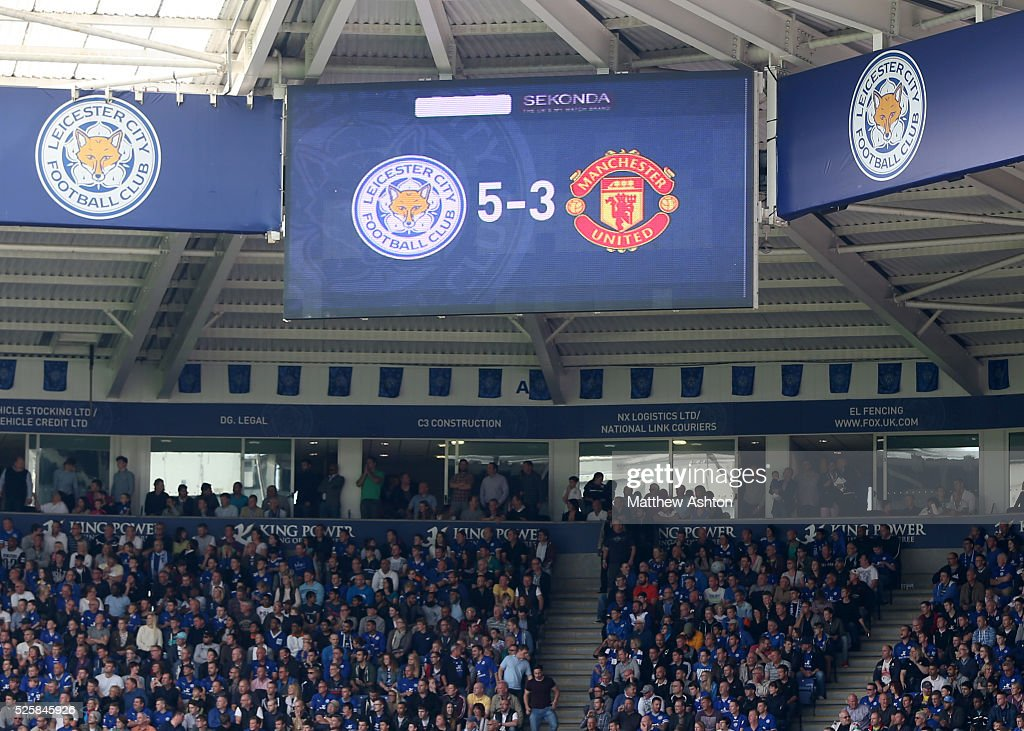 The scoreboard showing the 5-3 final score