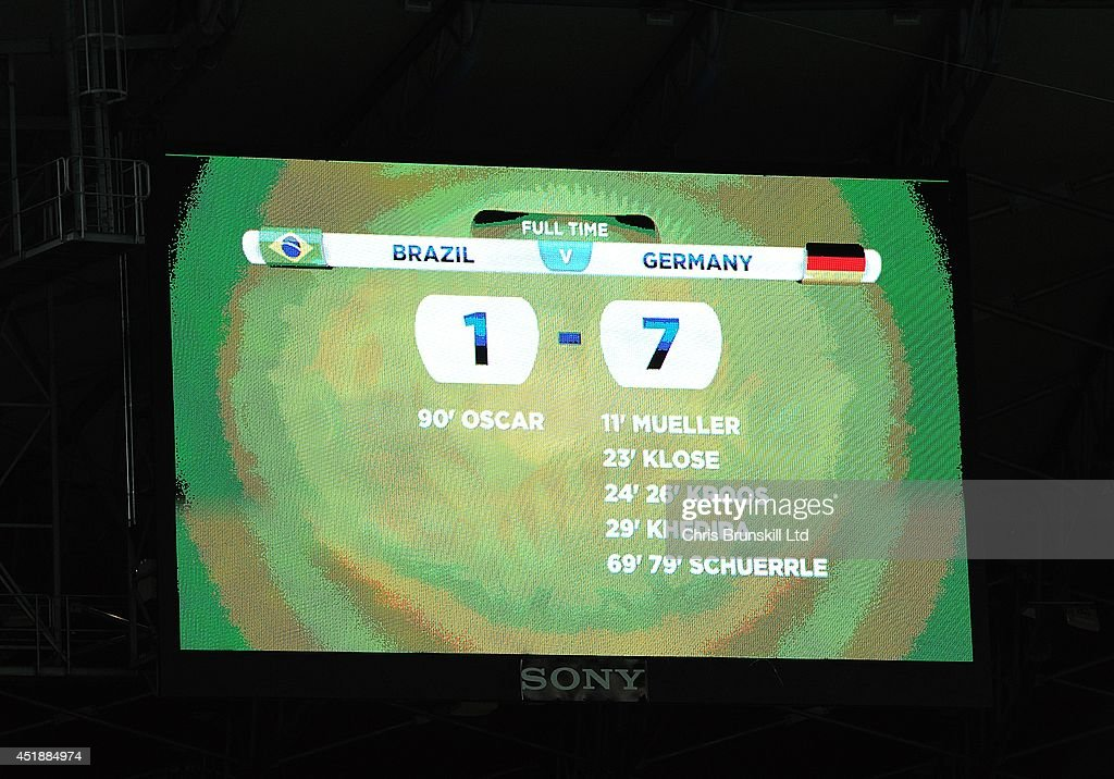 Brazil v Germany: Semi Final - 2014 FIFA World Cup Brazil : News Photo