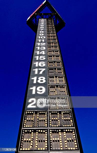The scoring tower at turn is shown before the NCWTS 7Eleven Qualifying at the Texas Motor Speedway Thursday November 5 in Fort Worth Texas