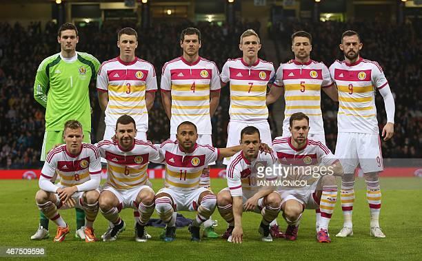 The Scotland starting XI Scotland's goalkeeper Craig Gordon Scotland's midfielder Craig Forsyth Scotland's defender Gordon Greer Scotland's...