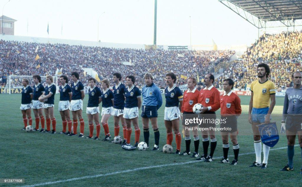 1982 FIFA World Cup - Brazil v Scotland : News Photo