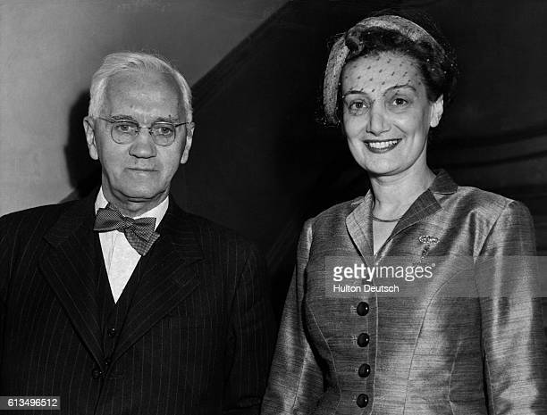 The Scottish bacteriologist Alexander Fleming best known for his discovery of penicillin with his wife Amalia Courtsouns after their marriage
