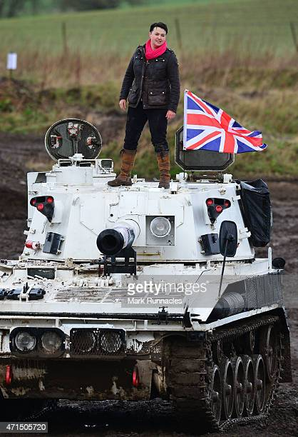 The Scottish Conservative Leader Ruth Davidson gets behind the controls of a Tank at Auchterhouse Country Sports as she highlights how the country's...