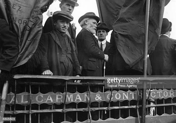 The Scottish Labour leader James Keir Hardie waiting to address a crowd during the Tailors' Strike Keir Hardie was born in Legbrannock in Lanarkshire...