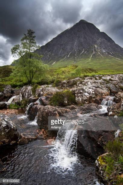 The Scottish mountain Buachaille Etive Mor in Glen Etive near Glencoe in the Highlands of Scotland, UK.