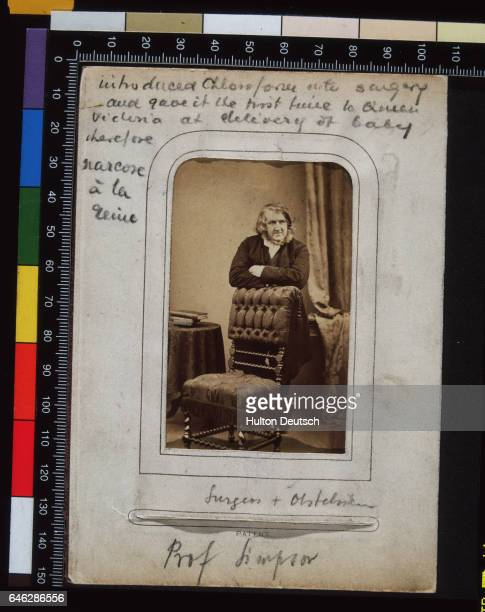 The Scottish obstetrician Sir James Young Simpson He used ether as an anaesthetic in childbirth and later discovered chloroform which Queen Victoria...