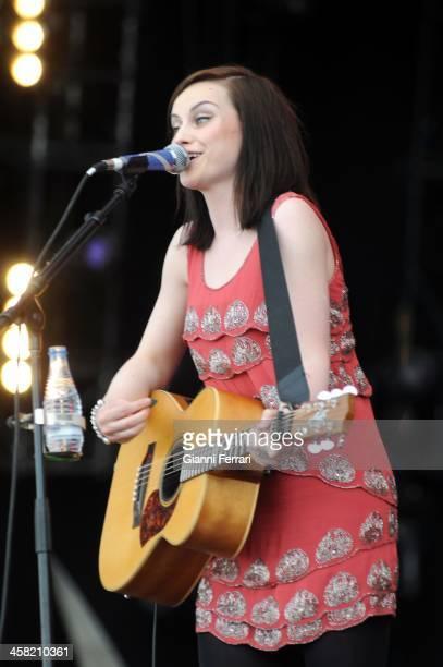 The Scottish singer Amy Macdonald during a concert at 'Roch in Rio' 5th June 2010 Arganda del Duero Madrid Spain