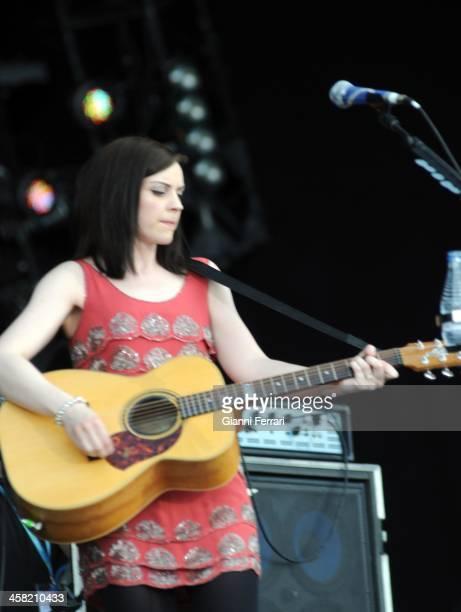 The Scottish singer Amy Macdonald during a concert at 'Roch in Rio', 5th June 2010, Arganda del Duero, Madrid, Spain. .