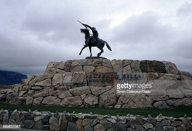 The Scout a bronze statue of a man on horseback honoring Buffalo Bill Cody Cody Wyoming 1971
