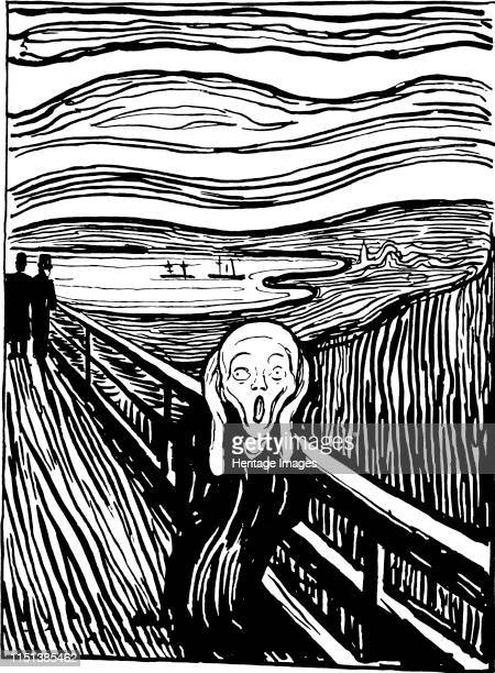 The Scream', 1895. Found in the collection of the State A Pushkin Museum of Fine Arts, Moscow. Artist Edvard Munch.