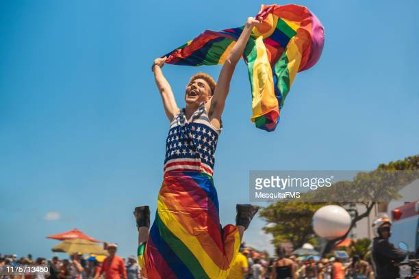 the scream of freedom, lgbtqi pride event in recife, pernambuco, brazil - pride stock pictures, royalty-free photos & images