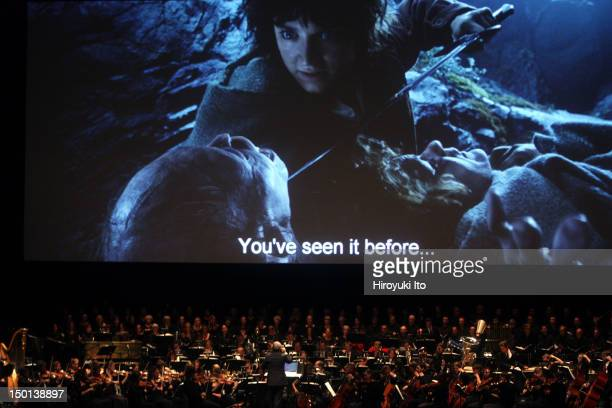 The screening of 'The Lord of the Rings The Two Towers' with Howard Shore's score performed live at Radio City Music Hall on Friday night October 8...