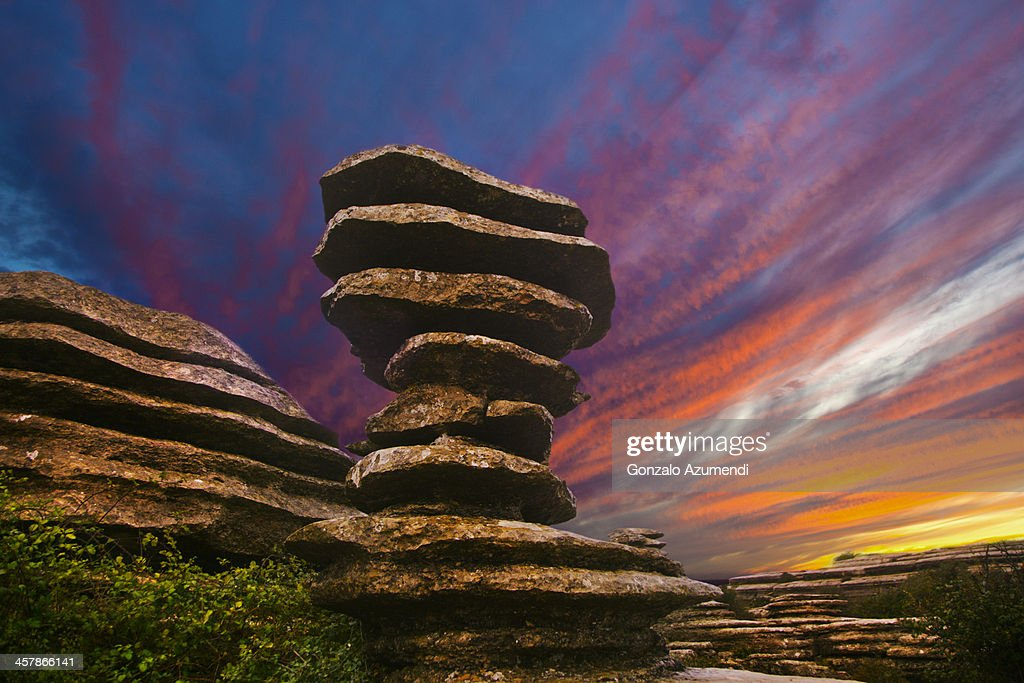 The screw in Natural park of Torcal de Antequera. : Stock Photo
