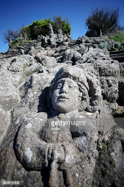the sculpted rocks rochers sculptes are located in Rotheneuf on the northern coast of Ille et Vilaine departement in Brittany At the end of the 19th...