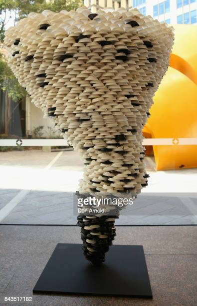 The sculpture 'Disposable Truths' by Marina DeBris is seen on September 7 2017 in Sydney Australia The Sydney artist created the sculpture from 1000...
