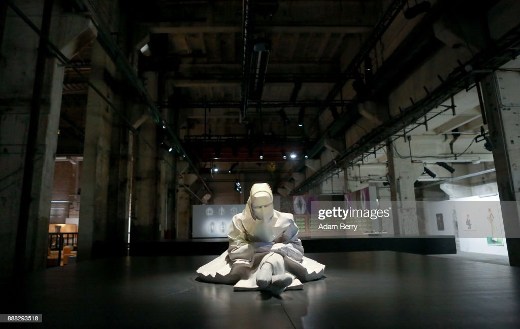 The sculpture 'Hmmm...' by Hana Al Saadi is seen prior to the opening of the 'Art From Qatar' exhibition at Kraftwerk Berlin on December 8, 2017 in Berlin, Germany. The exhibition, in a former East German power plant, will feature 294 works from 73 artists. It opens on December 9 and runs until January 3.