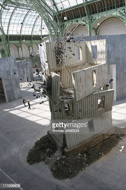 The sculpture of Anselm Kiefer 'Sonnenschiff' in the exhibition 'Monumenta 2007' at the Grand Palais in Paris France on May 29th 2007