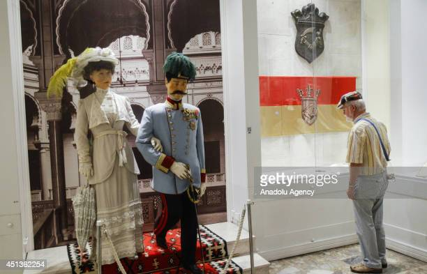 The sculpture of Archduke Franz Ferdinand of Austria and his wife at the museum where displayed the assassination of Archduke and his wife Duchess...