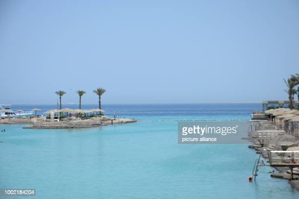 The sea and beach in Hurghada where the assassin attacked several holidaymakers with a knife at the beach on 14 July 2017 in Hurghada Egypt 15 July...