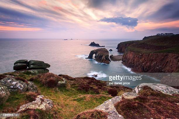 The Sea Arch at Land's End, Cornwall, England