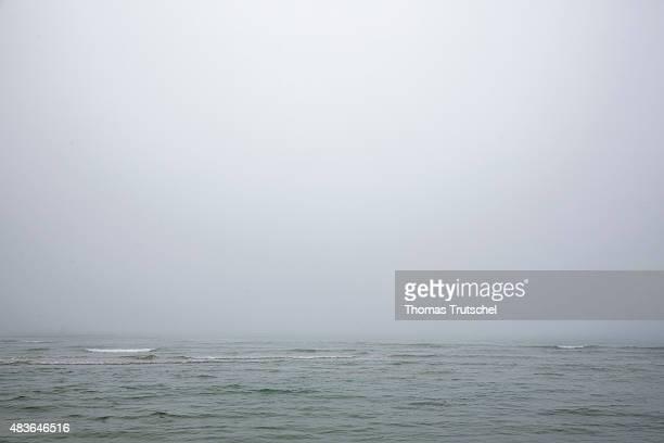 The sea at Lokken, Denmark on July 05, 2015.