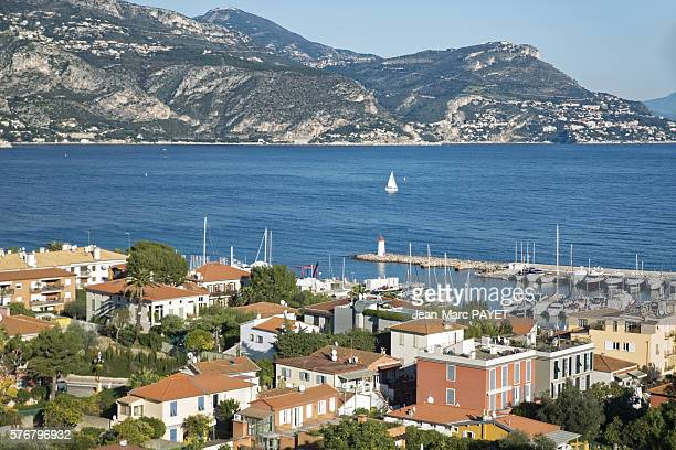 the sea between village and mountain - jean marc payet stock pictures, royalty-free photos & images