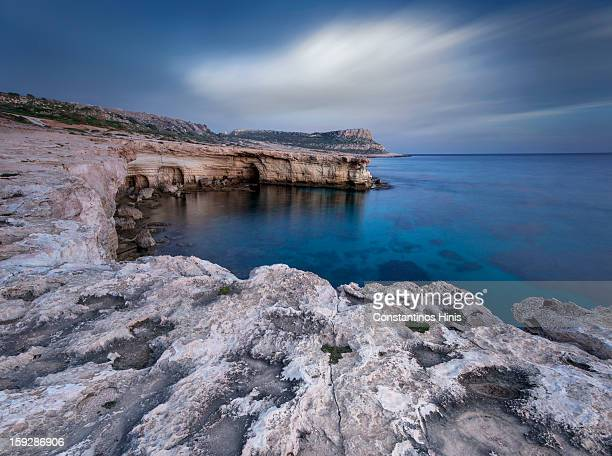 CONTENT] The sea caves in Ayia Napa with Cape Greko in the back